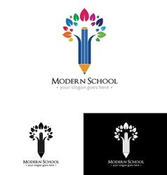 Colorful school logo vector
