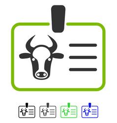 Cow badge flat icon vector
