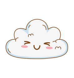 cute kawaii cloud cartoon vector image