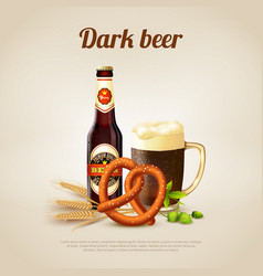 Dark beer background vector