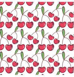 Delicious cherries fruits background design vector