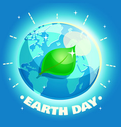 Earth day poster eco friendly ecology concept vector