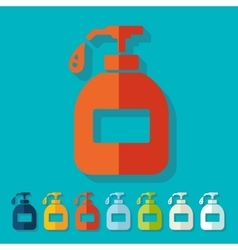 Flat design liquid soap vector image