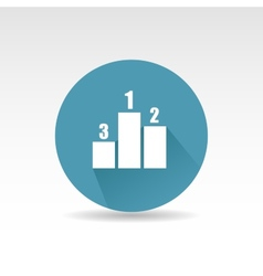 Flat diagram icon vector image