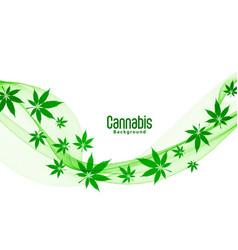 floating green cannabis marijuana leaves vector image