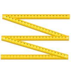 Folding ruler vector