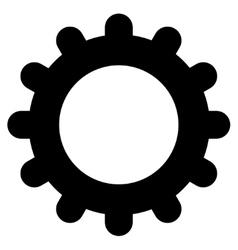 Gear flat black color icon vector