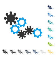 Gear mechanism icon vector