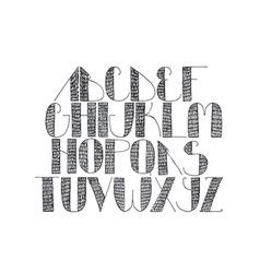 Hand written alphabet isolated on white background vector
