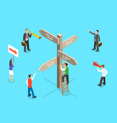 Isometric concept choosing right vector