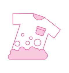 laundry garments washing icon vector image