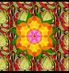 Mandala colored round ornament pattern on a vector