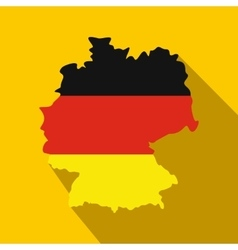 map germany with flag germany icon vector image