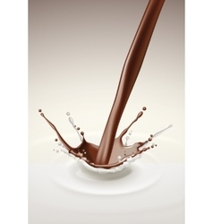 Milk Chocolate Splash Stream Flow vector