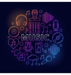 Music dark round vector