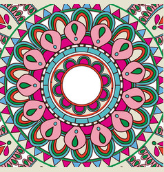 ornate abstract color mandala element wallpaper vector image