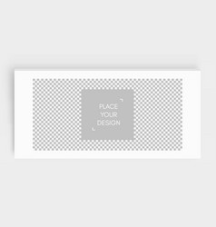 photo frame mockup chess board background blank vector image