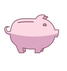 piggy bank or money box vector image