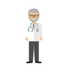Professional doctor specialist with glasses and vector