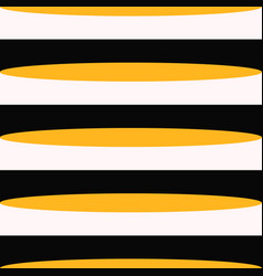 retro black white and orange horizontal stripes vector image