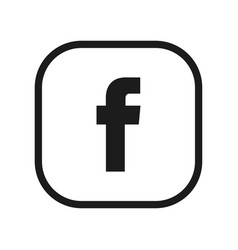 set for letter f facebook flat web icon vector image