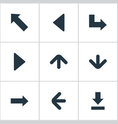 Set of 9 simple pointer icons can be found such vector