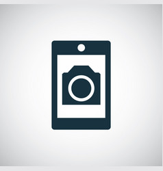smartphone photo camera icon for web and ui on vector image