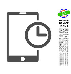 Smartphone time icon with set vector