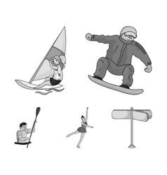 snowboarding sailing surfing figure skating vector image