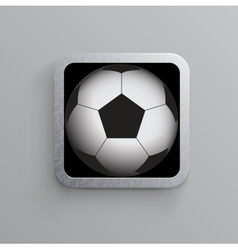 Soccer and sports app icon for mobile devices vector