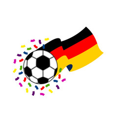 soccer ball with the flag of germany vector image