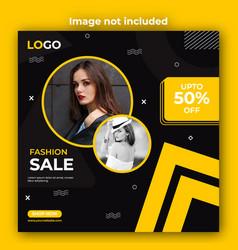 Social media post template design vector