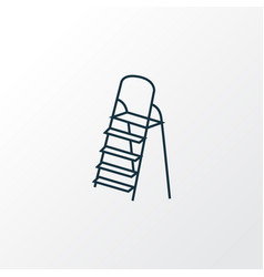 stepladder icon line symbol premium quality vector image