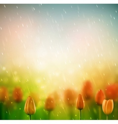 Summer rain vector image