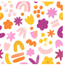 super fun abstract seamless pattern vector image