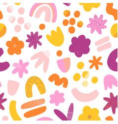 Super fun abstract seamless pattern vector