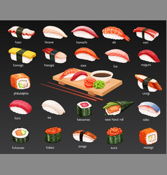 sushi set vector image