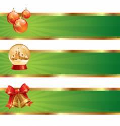 Three christmas banners vector