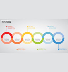 Timeline infographics design template with 10 vector