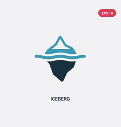 two color iceberg icon from nature concept vector image