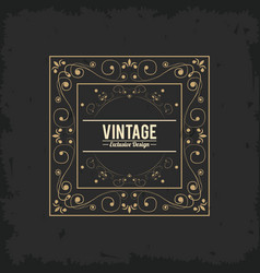 vintage exlusive design luxury golden floral vector image