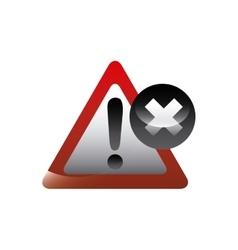Alert sign icon vector