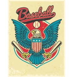 american eagle grip a baseball bat vector image