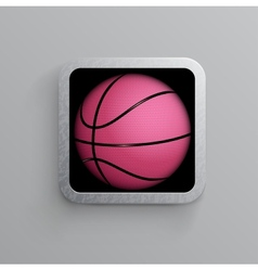 Basketball goal black web icon vector