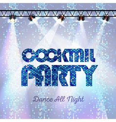 Disco background Cocktail party vector image vector image