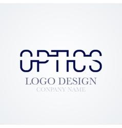 logo design optics vector image vector image