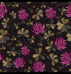 Seamless flower shamrock leaves Background vector image vector image
