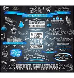 2014 Christmas Vintage typograph design elements vector image vector image