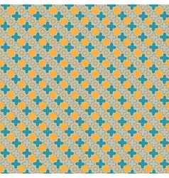 flower seamless pattern retro color and designed vector image vector image