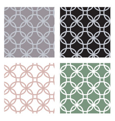 set of geometric seamless patterns with circles of vector image vector image